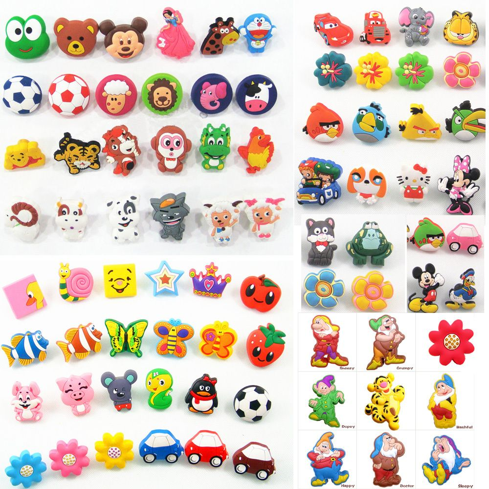 Cartoon soft gum children room cabinet drawer knob kids wardrobe