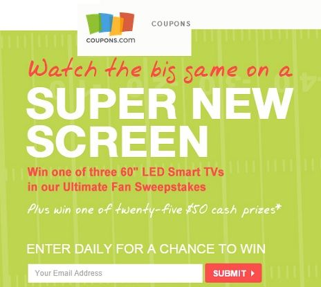 Enter the Coupons com Ultimate Fan Sweepstakes Win a 60
