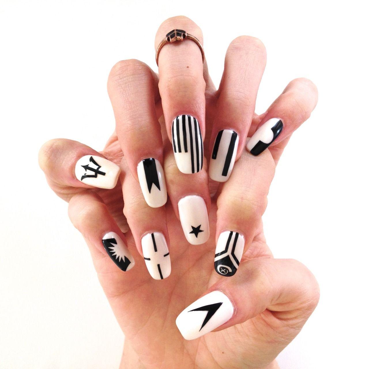 FRED WILSON inspired nail art history | Sartle: Art History Nail Art ...