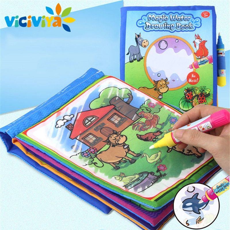 Viciviya 1 Pcs New Arrival Coloring Book Kids Animals Painting Magic Water Drawing Book Water Coloring Book Doodle Kids Toy Kid Shop Global Kids Baby Sho Kids Doodles