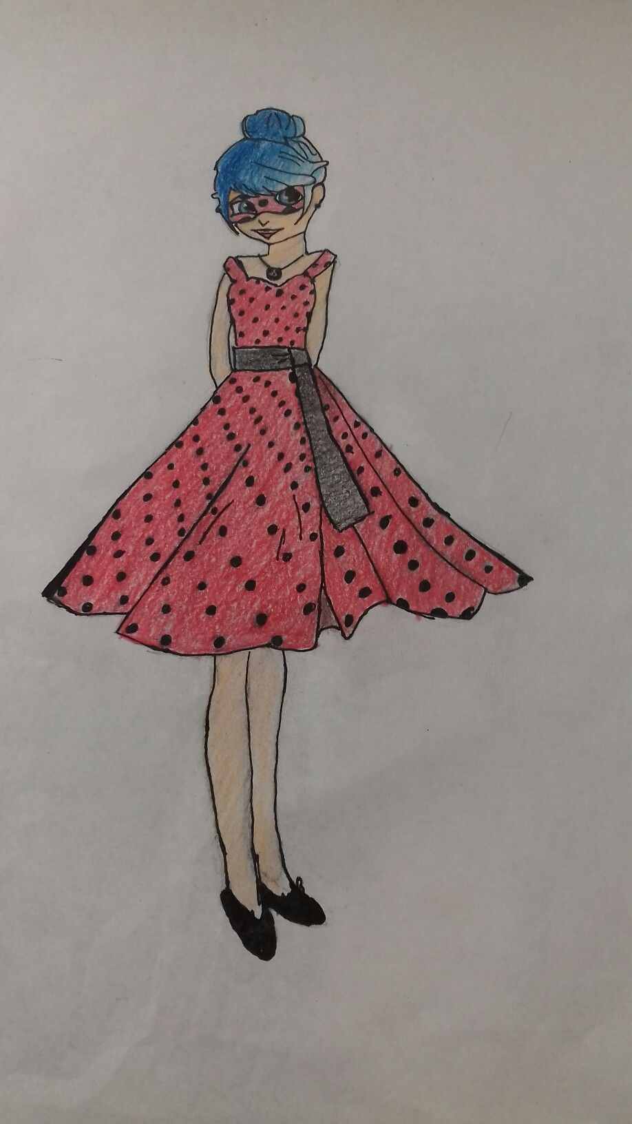 890f1b31a Marinette con vestido de gala poe Itzel Cardoso