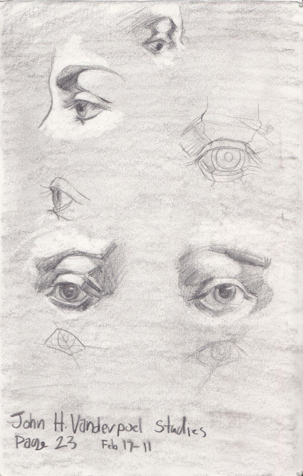 Gabriel Hunt: John H. Vanderpoel studies (More Eyes)
