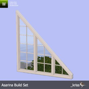Kriss Asarina Triangle Window 45 Degrees 3 Tile Right Sims 4 Windows Sims House Sims 4 Build