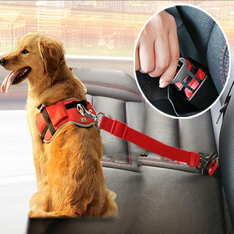 Dog Collars Leads Vehicle Car Seat Belt Harness Lead Clip Safety