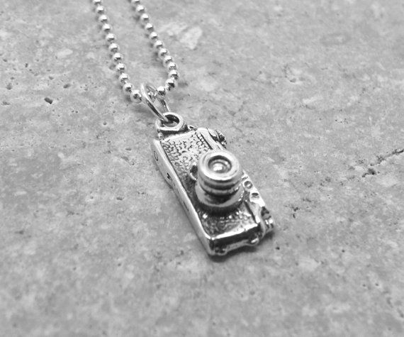 Camera Necklace Sterling Silver by GirlBurkeStudios on Etsy, $32.00