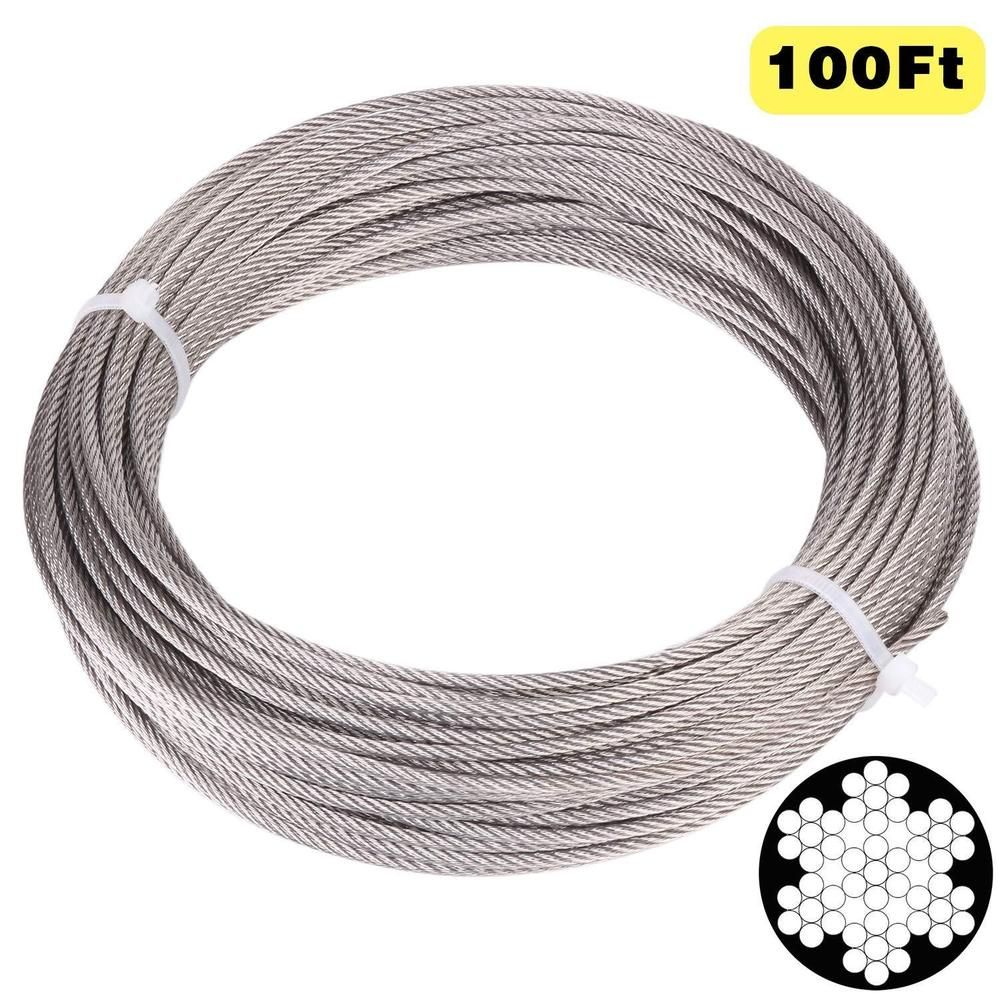 Ebay Sponsored 100 Feet 1 8 Inch Stainless Aircraft Steel Wire Rope Cable For Railingdecking Stainless Steel Cable Steel Stainless Steel Wire