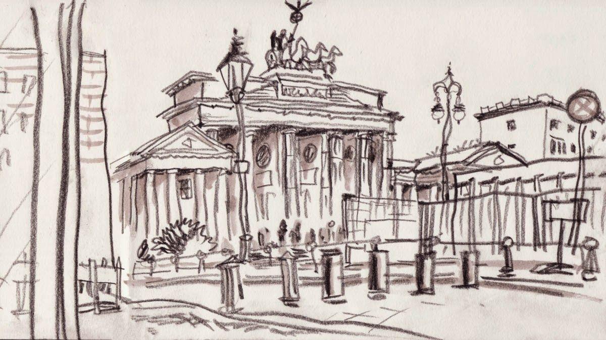 Detlef Surrey Skizzenblog Berlin Brandenburger Tor Http Skizzenblog Surrey De Urban Sketches Brandenburger Tor Urban Sketchers Tor