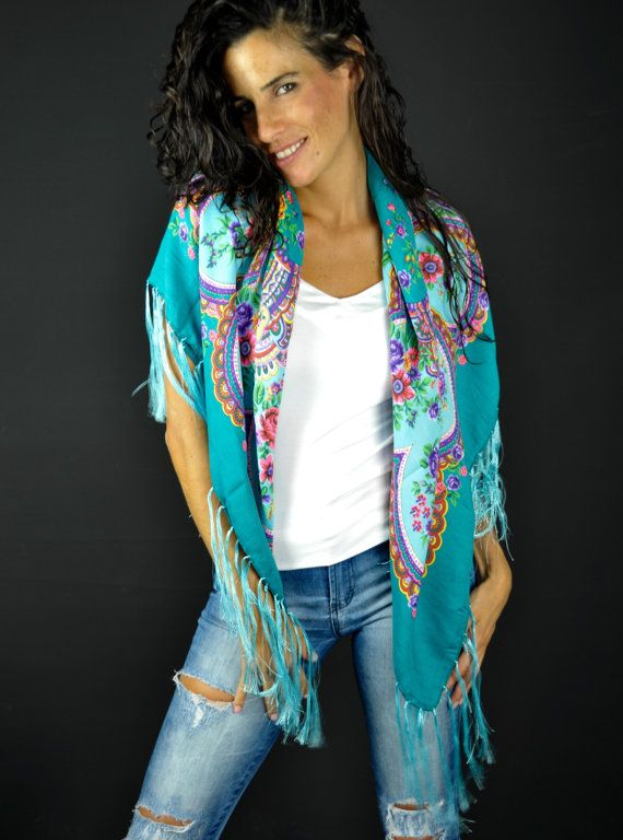 Hey, I found this really awesome Etsy listing at https://www.etsy.com/listing/467549550/traditional-shawlautumn-fall-scarfblue
