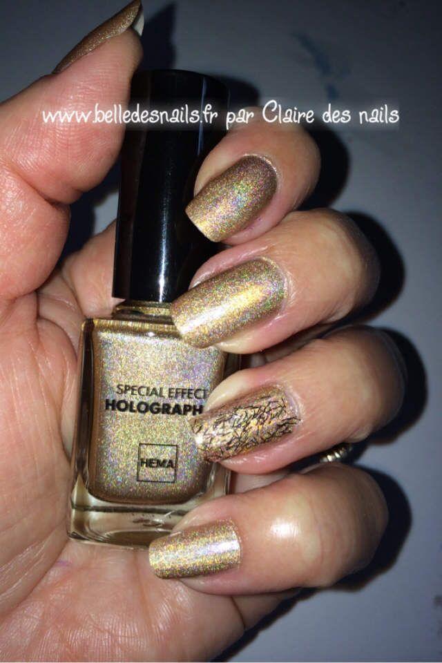 nailart holo #nails #nail #manicure #holographique #fancy #glitter ...
