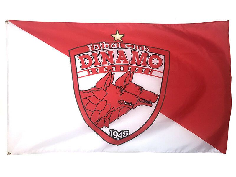 Football soccer romania dinamo bucuresti logo flag banners