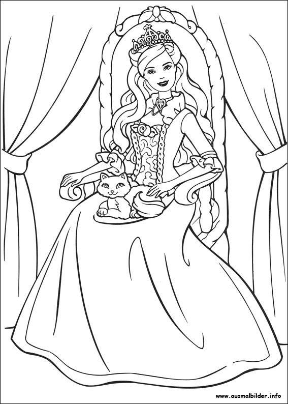 Barbie als die Prinzessin und das Dorfmädchen malvorlagen ...