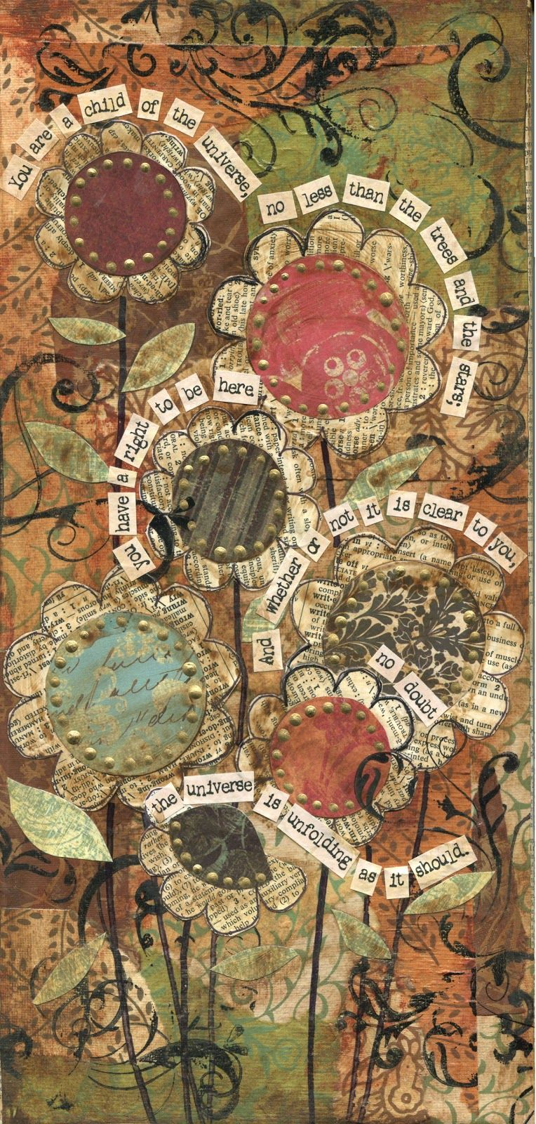mixed media collage artworks