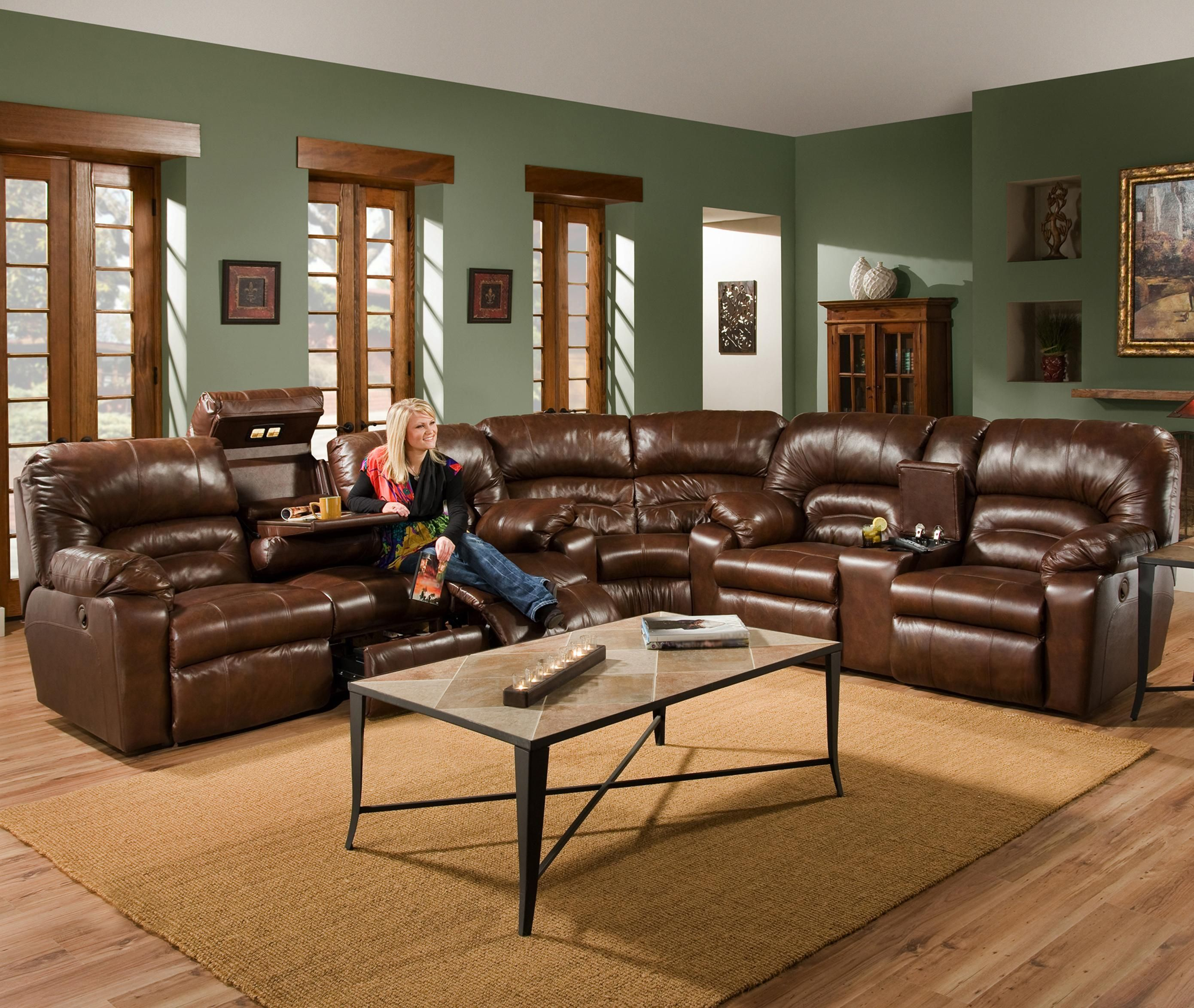 596 3 Piece Reclining Sectional by Franklin