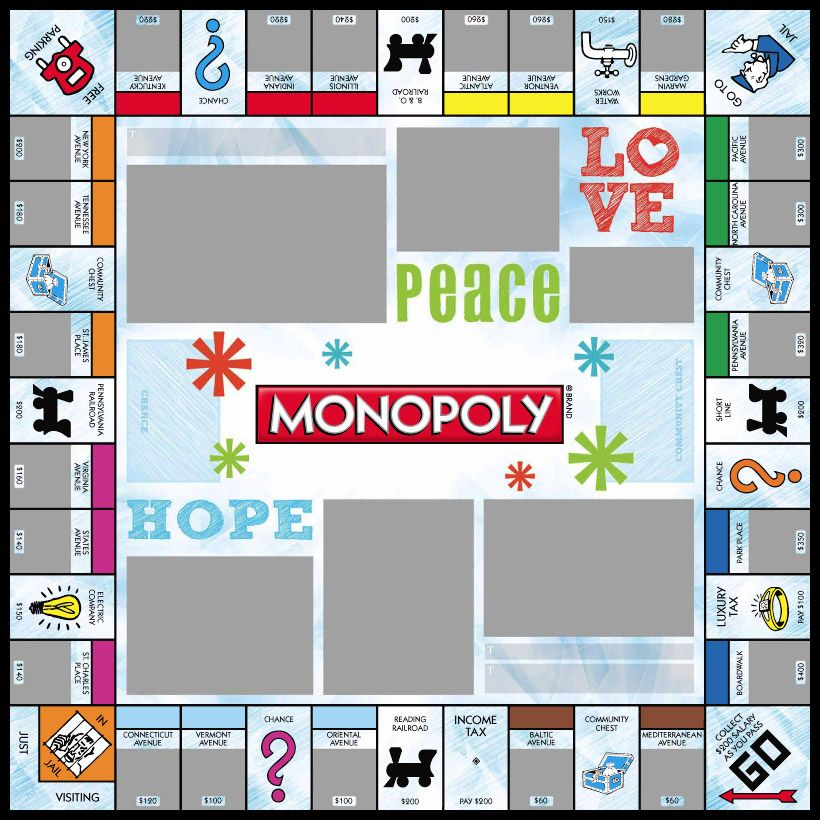 snowflakes white monopoly games custom personalized http