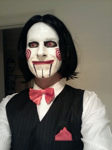 this guy looks creeepy to me as jigsaw halloween. Black Bedroom Furniture Sets. Home Design Ideas