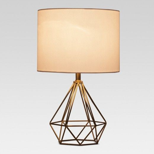 Bring Your Living Space Together With This Diamond Wire Table Lamp With Brass Base From Project 62 153 Sleek And Modern Geometric Table Lamp Lamp Table Lamp