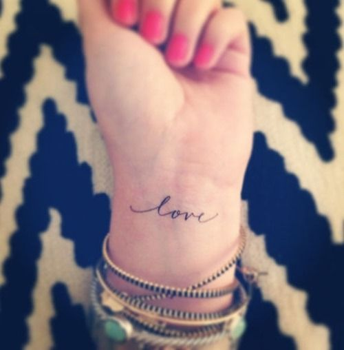 Simple Font Tattoo For Hand
