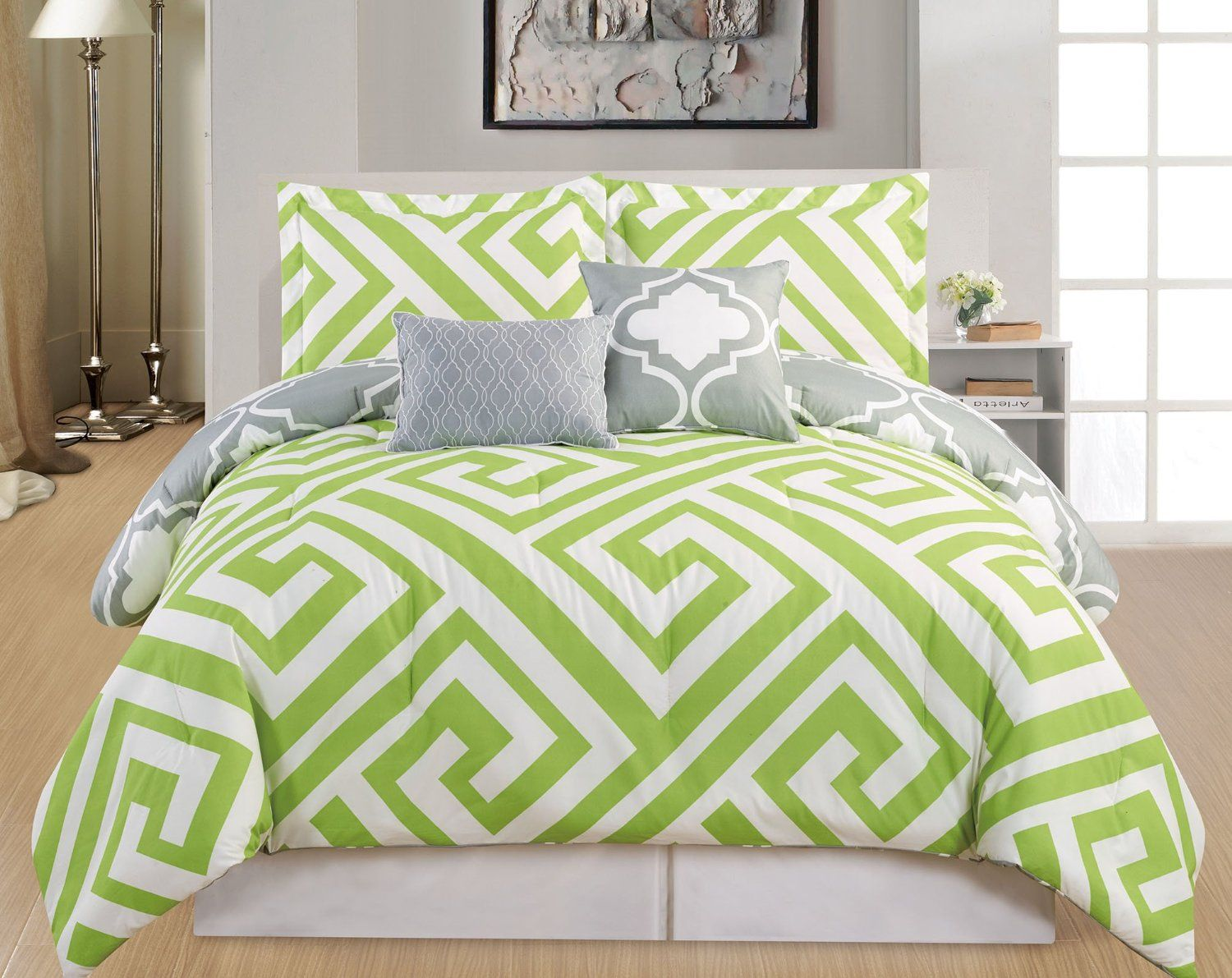 Total Fab: Lime Green and Grey Bedding Sets | Bed linens ...