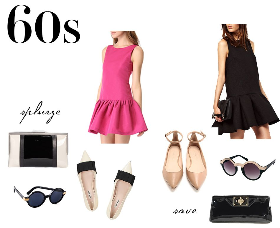 60s Inspired Fashion Splurge And Save Edition 60s Inspired Fashion Shopping Lists And Clothing