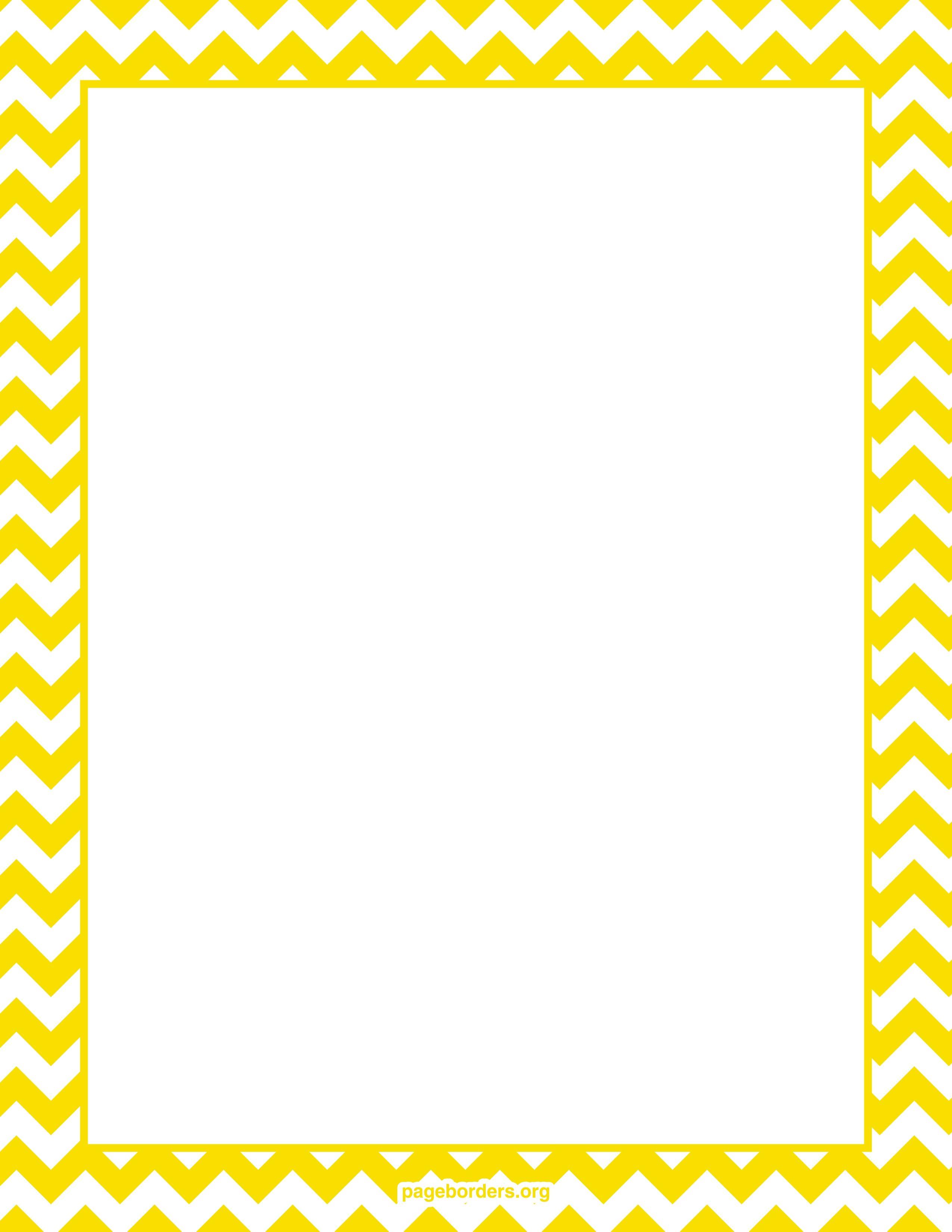 yellowchevronborderwatermarked.jpg (2550×3300) Bordes