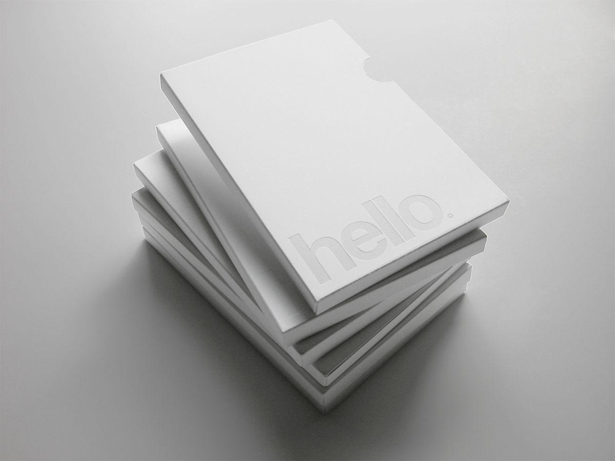 White on white, minimalist DVD cover by Homework _