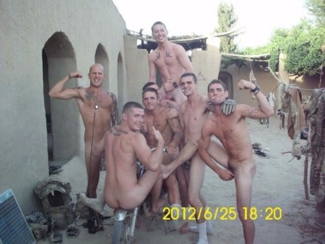 from Brennan hot gay army group sex