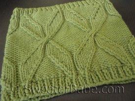 sweater babe Chunky Pinwheel Cowl knitting pattern