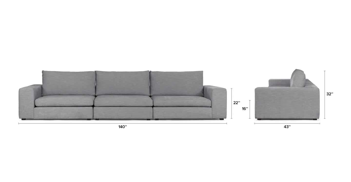 Lounge In The Lap Of This Sumptuous Modular Sofa A Low Profile With Deep Seats The Gaba Features Modular Sofa Contemporary Sofa Mid Century Modern Sofa Couch