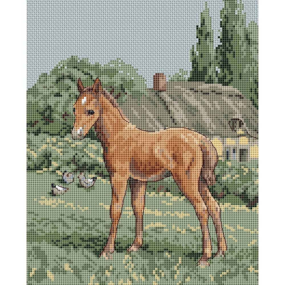 """The Natural World Colt Cottage Counted Cross Stitch Kit-8""""X10"""" 14 Count"""