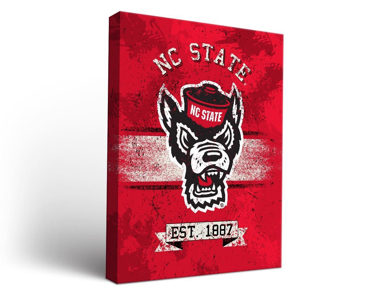 Nc State Wolfpack Classic Canvas Wall Art Rectangle Canvas Wall Art Wall Art Art