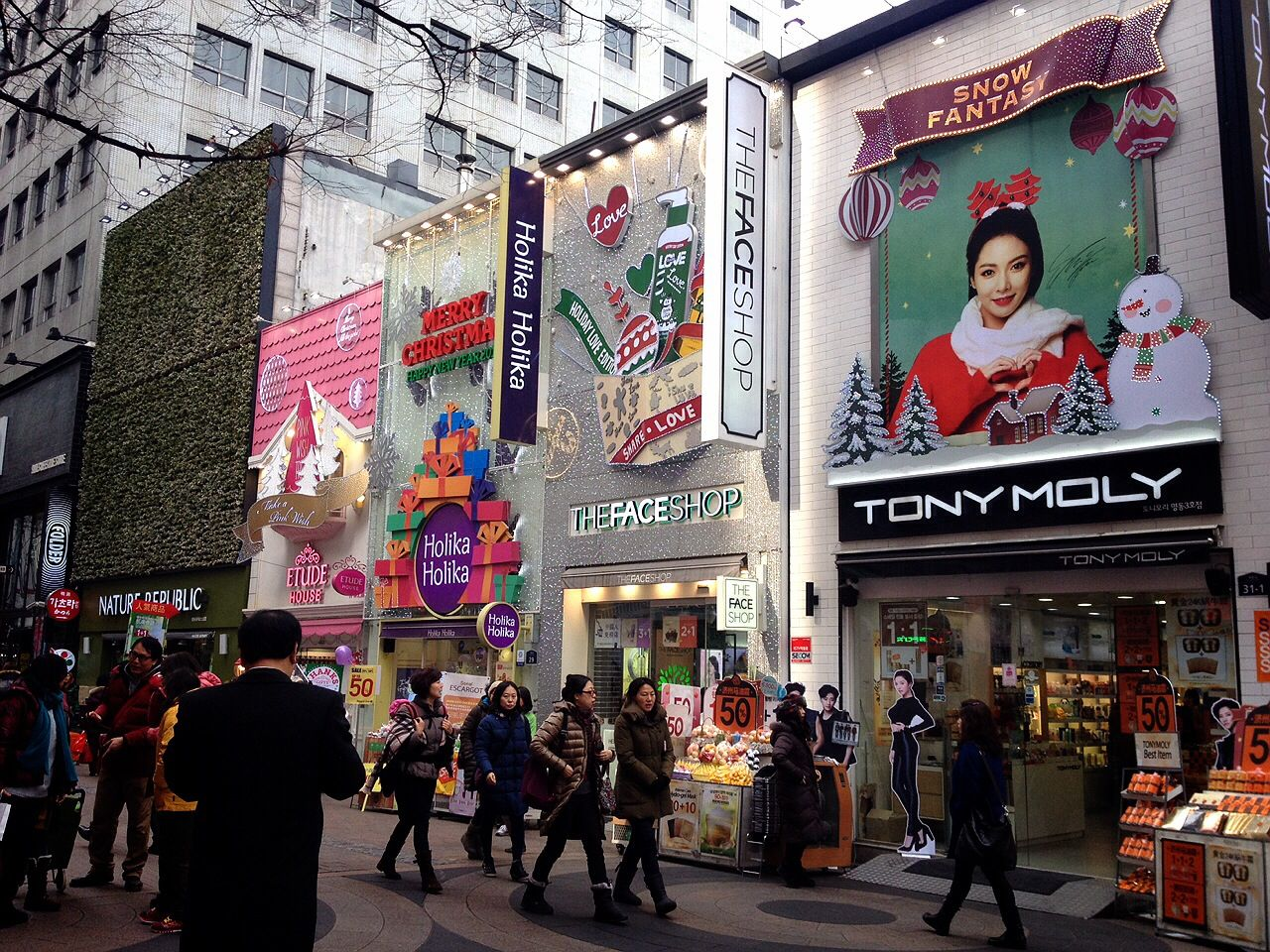 Korean Beauty Stores in Myeongdong, Seoul
