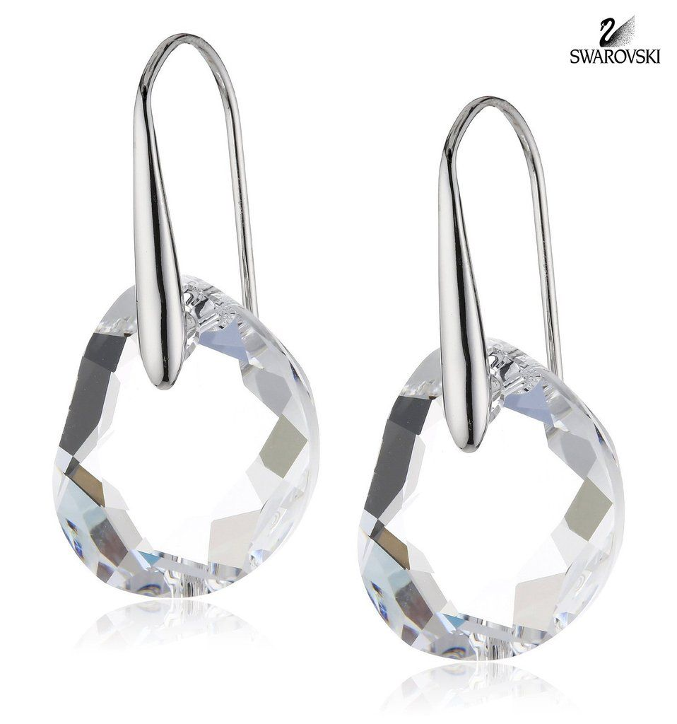 Swarovski Clear Crystal Jewelry Galet Pierced Earrings 665159