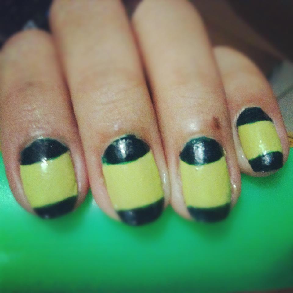 half moon frech tip nail art   nail art designs   Pinterest