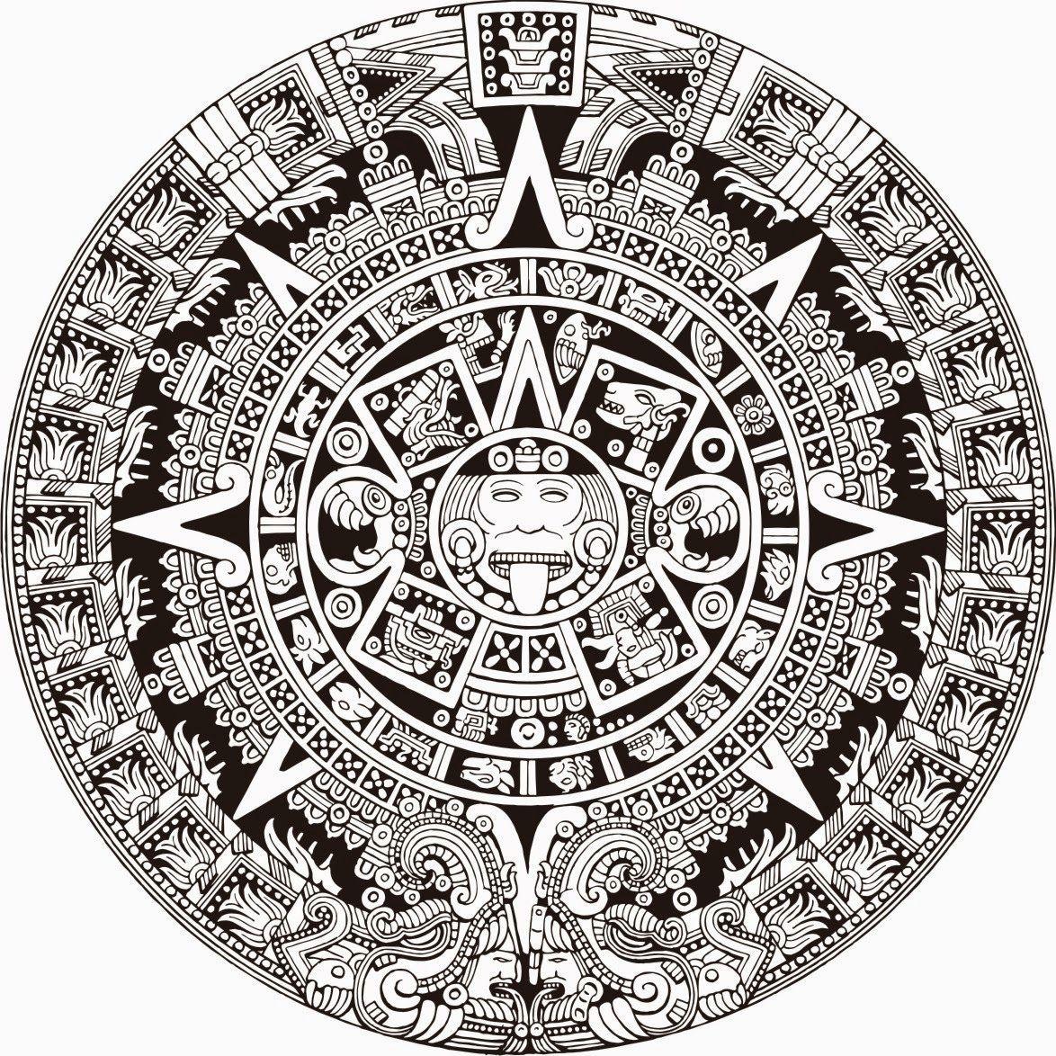 El diseño precolombino. Calendario Azteca | Monedas valiosas ...