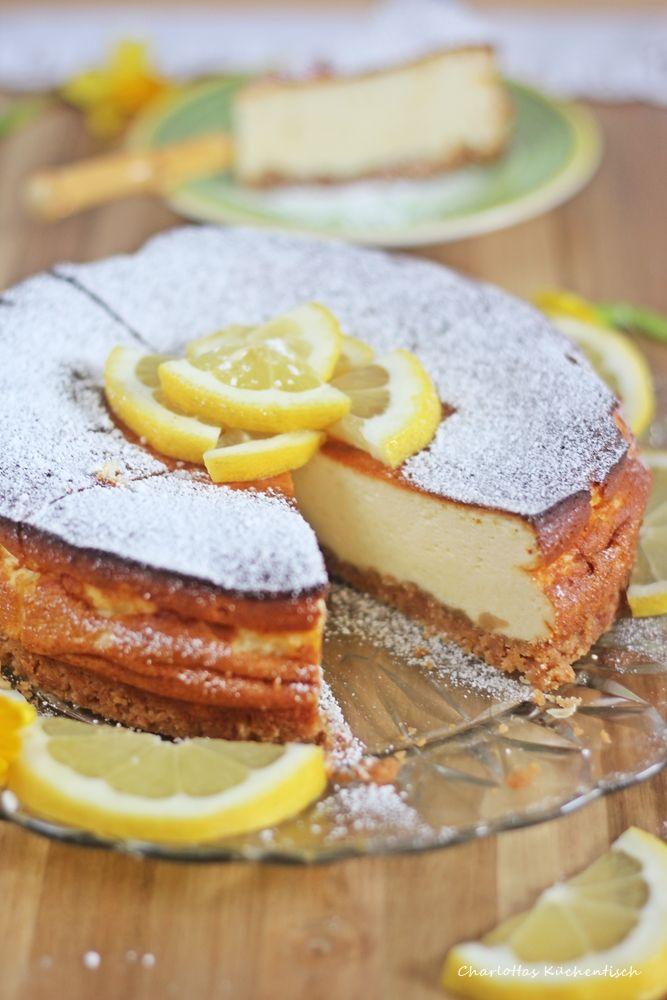 Zitronencheesecake Kasekuchen Cheesecake Rezept Zitrone Quark