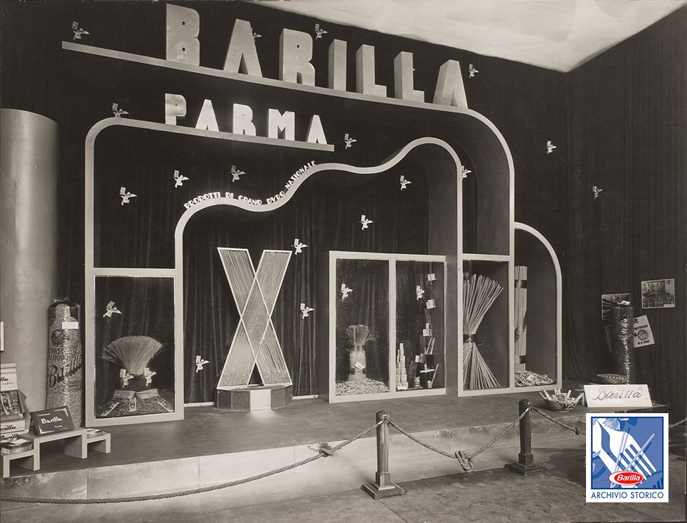 in 1953 carboni designed a barilla stand for the 8th exhibition of preserved foods in parma tbt