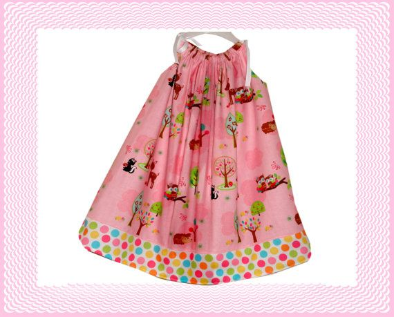 Toddler Girls Easter Egg Tree Dress Light Pink by Amievoltaire, $14.95