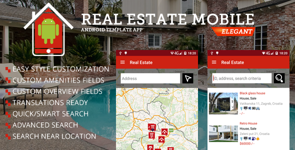 Real Estate Android App App Template Real Estate Mobile App Templates