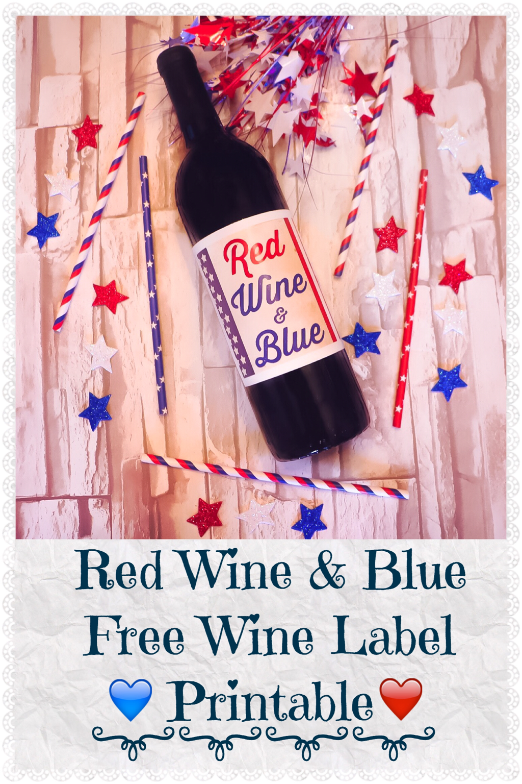 photo relating to Printable Trophy Labels called Purple WINE BLUE Free of charge WINE LABEL PRINTABLE The Trophy