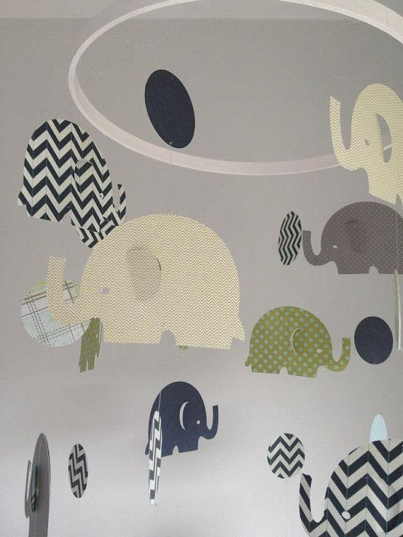 Baby boy Elephant hanging mobile by Inspiredbylove2 on Etsy, $30.00