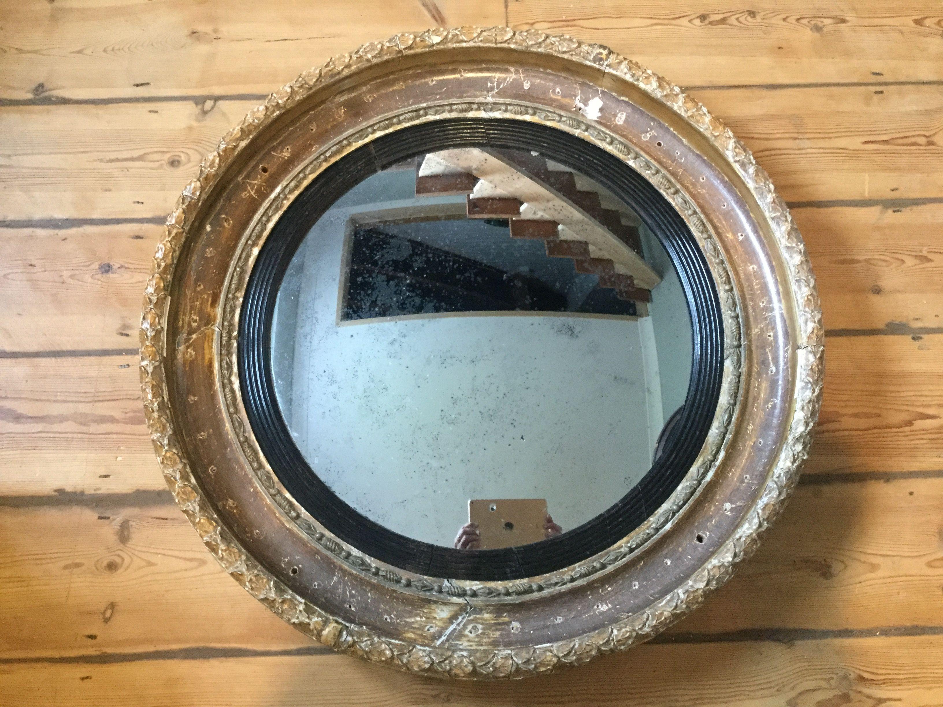 Regency convex mirror | Antique mirror, Mirror, Mirrors ...