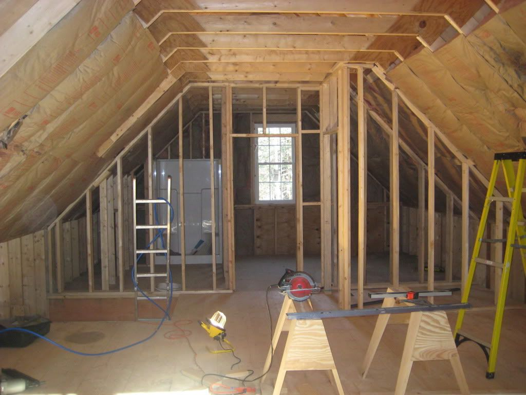 Dave And Kim S 1 1 2 Story 20x40 Cabin Pics 12 Foot Walls Over 3 Foot Knee Wall In Loft Cabin Loft Loft House Rustic House