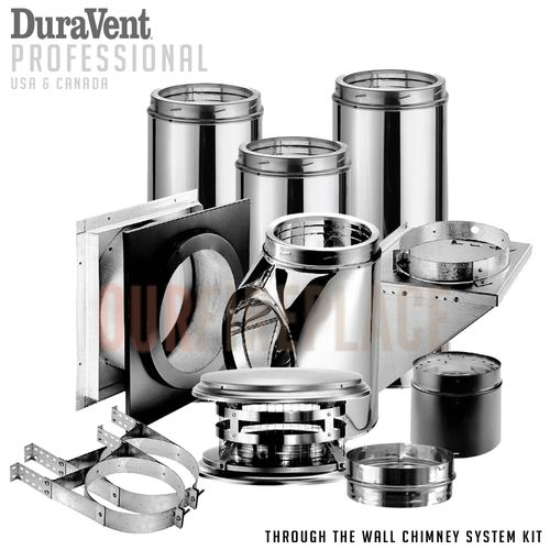 DuraVent • DuraTech Exhaust Kit with Flue Pipe DuraVent Pipe for Pizza Ovens