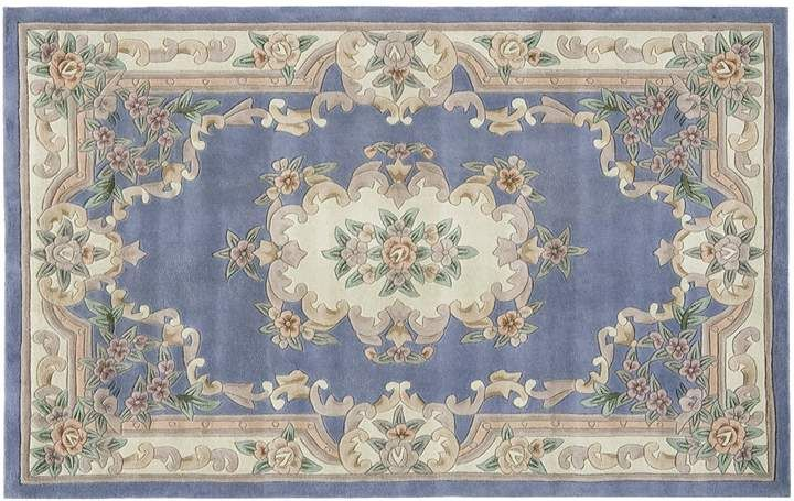 Rugs America New Aubusson Framed Fl Wool Rug Products