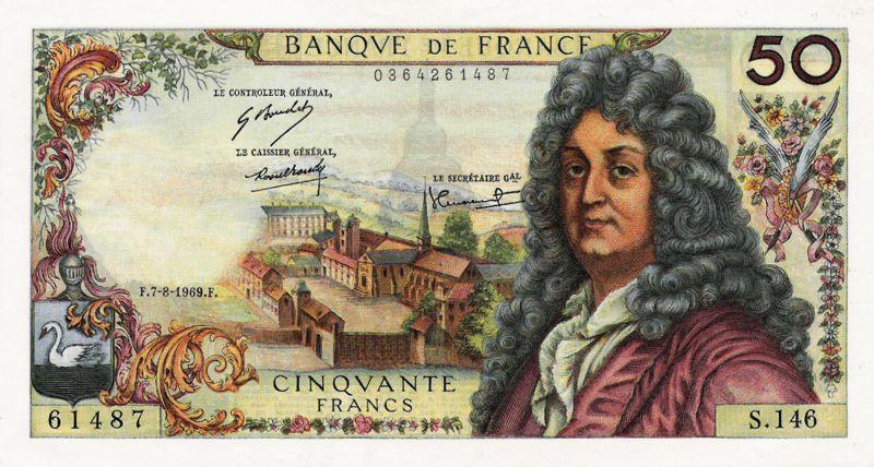 Collection Billet Banque de France - F.64 - 50 francs Racine | Billet de banque, Banque de ...