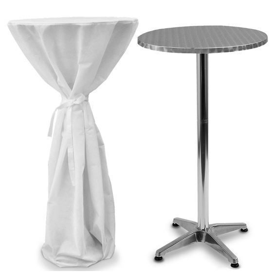 Bistro Table W Cover 2 Heights Adjustable Garden Patio Party