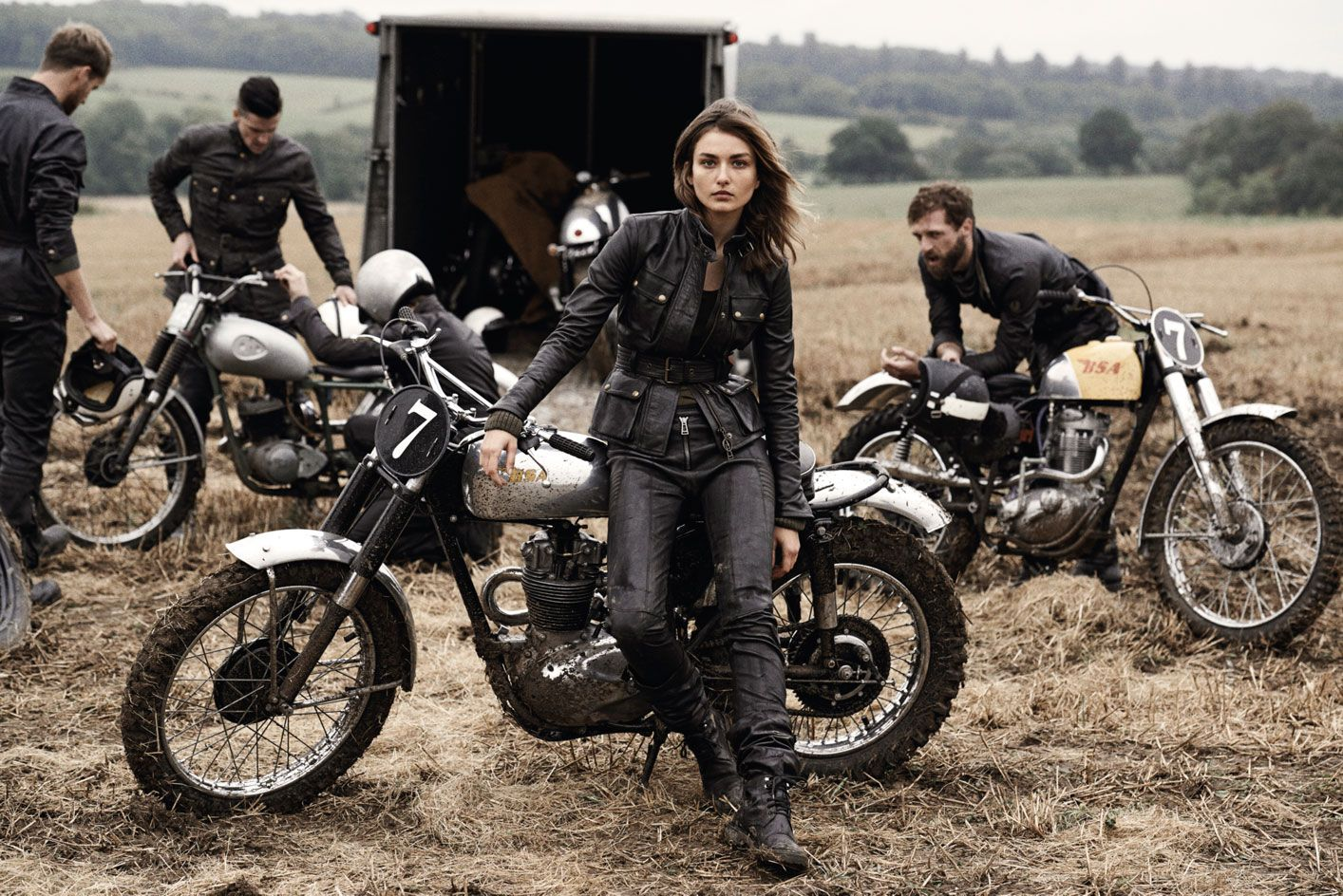 We talk bikes and Belstaff with David Beckham at the launch of 'Off Road', a new book he stars in shot by Peter Lindbergh