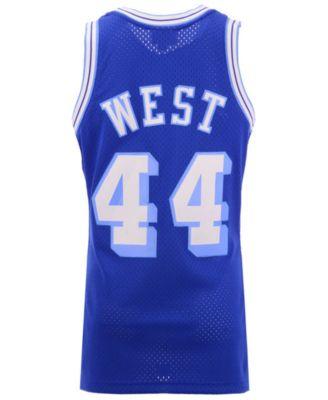 94f3f7df35ac Mitchell   Ness Men s Jerry West Los Angeles Lakers Hardwood Classic Swingman  Jersey - Blue L