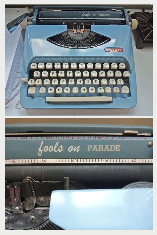 I turned this typewriter into an ode to my favourite