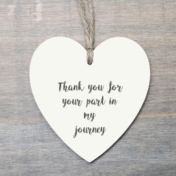 Thank You Gift Wedding Favour Heart Gift Wooden Heart Gift